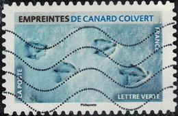 France 2021 Oblitéré Used Empreintes D'animaux Empreintes De Canard Colvert - 2010-.. Matasellados