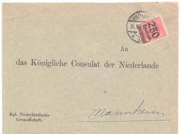 """Brief, Berlin, """"Kgl. Niederländische Gesandschaft"""", Gel. 1923, Nach Mannheim / Kgl. Consulat D. Niederlande, - Briefe U. Dokumente"""