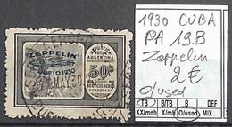 D - [860129]TB//O/Used-Cuba 1930 - PA19B,  Transports, Zeppelin - Zeppelin
