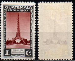 GUATEMALA - 1937 - Tower Of The Reformer - MH - Guatemala