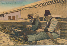 Types Pêcheurs Provençaux (13 Bouches Du Rhône) Reprisage Filets De Pêche - Phot. Guende Convoyeur Nice à Marseille 1907 - Ohne Zuordnung
