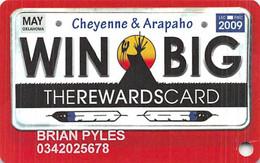 Lucky Star Casino Oklahoma Slot Card - May 2009 License Plates & 2 Logos On Back - Casino Cards