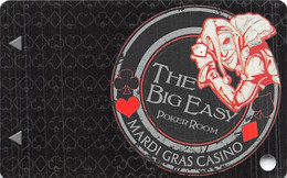 Mardi Gras Casino - Hallandale Beach, FL USA - BLANK Big Easy Poker Room Slot Card - Casino Cards
