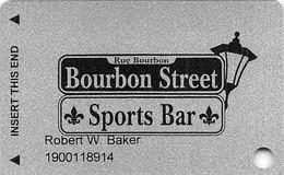 Bourbon Street Sports Bar - Henderson, NV - Slot Card - Casino Cards