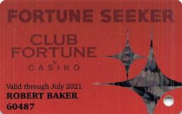Club Fortune Casino Henderson, NV Slot Card - Casino Cards