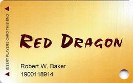 Red Dragon Casino - Boulder, NV - Slot Card - Casino Cards