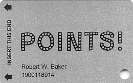 Points! Casino - Henderson, NV - Slot Card - Casino Cards
