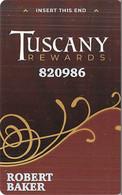 Tuscany Casino Las Vegas, NV Slot Card - Casino Cards