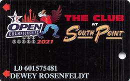 South Point Casino - Las Vegas, NV - Special USBC Bowling Tournament Slot Card 2021 - Casino Cards