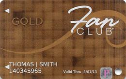 Isle Of Capri Casino Multi-Locations Fan Club Slot Card @2012 With P Sticker - Casino Cards