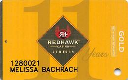 Redhawk Casino - Placerville CA - 11th Anniversary Slot Card - Casino Cards