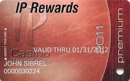 IP Casino - Biloxi, MS - 2011 Slot Card - Premium In Lower Case - PG Over Mag Stripe - Casino Cards