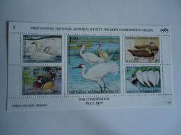 UNITED STATES MNH   SHEET  STAMPS    BIRDS AUDUBON SOCIETY - Sin Clasificación