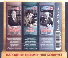 2021. Belarus, Folk Writers Of Belarus, S/s Perforated, Mint/** - Belarus