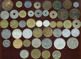 LOT DE 46 MONNAIES ( De NAPOLEON III Aux Année 1990 ) De 1 Centime A 100 Francs ( 1 ) - Lots & Kiloware - Coins