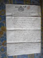 PARCHEMIN 4 PAGES Daté 1642 Cachet De Generalite D' ALENCON A étudier Généalogie - Manuscritos