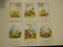 Beau Lot De 20 Cartes Postales De Fantaisie  Pâques     Mooi Lot Van 20 Postkaarten Fantasie  Pasen  - 20 Scans - 5 - 99 Cartes