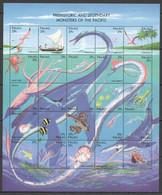 PK023 1993 PALAU MARINE LIFE MONSTERS OF THE PACIFIC #633-57 MICHEL 22 EURO SH MNH - Preistorici