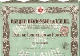 11-BANQUE REGIONALE DE L'AUDE. NARBONNE. Cadre Déco - Other