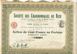 11-CHARBONNAGES DE BIZE. STE DES ... - Other