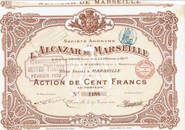 13-ALCAZAR DE MARSEILLE. Action 1914. Cadre Déco - Andere