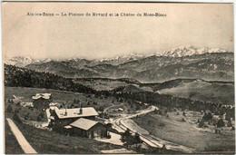 51am 2049 CPA - AIX LES BAINS - PLATEAU DU REVARD ET LA CHAINE DU MONT BLANC - Aix Les Bains