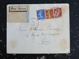 CORTE - CORSE - CACHET ROND MANUEL SUR SEMEUSE ET TYPE PAIX - Manual Postmarks