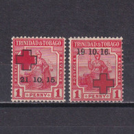 TRINIDAD & TOBAGO 1915-1916, SG# 174-175,  Semi-postal, MH - Trinité & Tobago (...-1961)