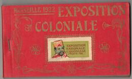 CARNET COMPLET ALBUM SOUVENIR 24 CPA DE L'EXPOSITION COLONIALE MARSEILLE 1922 INDOCHINE ANGKOR VAT ANNAM ANNAMITE PAGODE - Colonial Exhibitions 1906 - 1922