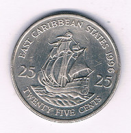 25 CENTS 1995  EAST CARIBBEAN STATES ANTILLEN /5547/ - West Indies