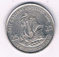 25 CENTS 2004  EAST CARIBBEAN STATES ANTILLEN /5548/ - West Indies