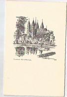 TOURNAI LA CATHEDRALE/JULES MESSIAEN 1954/MENU 22 MAI 1955/ BANQUE DE BRUXELLES - Menu