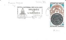 France Flamme Megras Musée De L'armée 30/07/83 / Carte YT 1801 Invalides - Mechanical Postmarks (Advertisement)