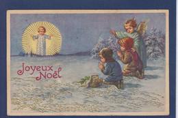 CPA Angelot NG Ange Angel Illustrateur Noël Circulé - Angeli