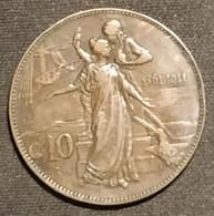 Pas Courant - ITALIE - ITALIA - 10 CENTESIMI 1911 - Victor-Emmanuel III - KM 51 - 1900-1946 : Vittorio Emanuele III & Umberto II
