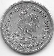 *monnaie De Necessite  Checy 5  Centimes 1922 Alu   (45) - Monetari / Di Necessità