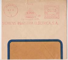 Madrid Siemens Industria Electrica SA Barcelona Lettre Espagne EMA Slogan Machine Espana Correos Meter Mail Cover 1935 - Machine Stamps (ATM)
