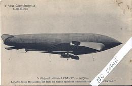 92 Haut De Seine, Aviation, Paris Clichy, Pub Pneu Continental, Le Dirigeable Lebaudy - Clichy