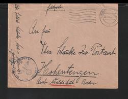 German Feldpost WW2: Med.-Klinik Freiburg And Faint Feldpost Cachet From A Reservelazarett Poste - Militaria