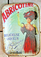 Plateau Pub Publicitaire Tole ABRICOTINE DELICIEUSE LIQUEUR GARNIER ENGHIEN BAIN - Posters