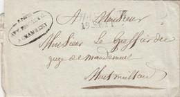SARDE SAVOIE LAC 1833 CHAMBERY  + R.POSTE / AVV.FISCALE G./ A CHAMBERY - 1801-1848: Precursors XIX