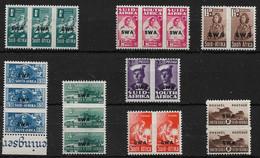 SOUTH WEST AFRICA 1943 - 1944 WAR EFFORT SET SG 123/130b UNMOUNTED MINT/LIGHTLY MOUNTED MINT Cat £19 - África Del Sudoeste (1923-1990)