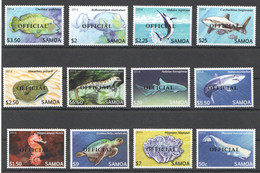 BB307 ! LIMITED STOCK 2014 SAMOA FISH & MARINE LIFE OVERPRINT OFFICIAL 1SET MNH - Maritiem Leven