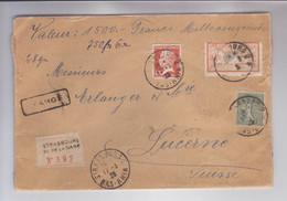 Lettre Recommandée - CHARGE - Strasbourg Pour Lucerne (CH) - Brieven En Documenten