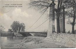 11 - FLEURY D'AUDE Le Pont Suspendu Sur L' écrite Timbrée - Altri Comuni