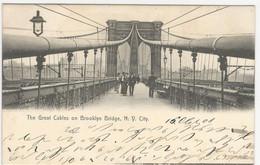 Brooklyn Bridge, Used 1908 To Switzerland - Ponti E Gallerie