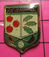 217 Pin's Pins / Beau Et Rare / THEME : SPORTS / BLASON GOLF DE MORMAL POMMES FEUILLES DE CHENE - Golf