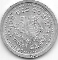 Monnaie De Necessite  Fourmies Et Trelon 10 Centimes  1921  (7) - Monetari / Di Necessità