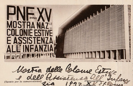 Cartolina - Postcard /  Viaggiata - Sent /  Roma - Mostra Colonie Estive Anno XV - Autres