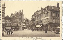 Mons - La Grand'Place (Côté Sud) - Café Bières Labor - Caulier, Publicité Tabacs AJJA - Mons